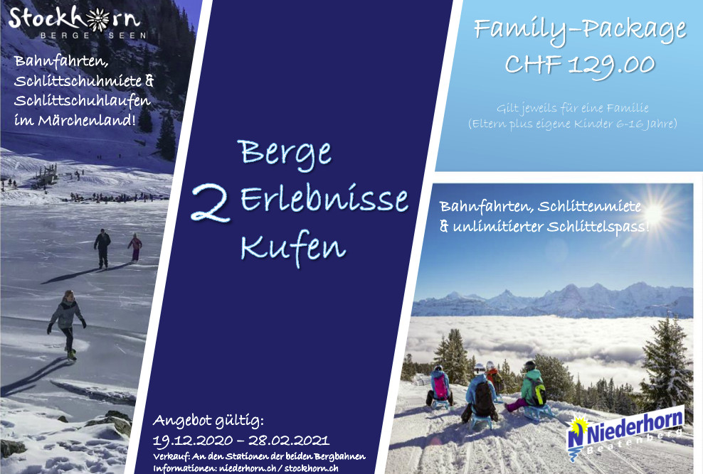 Winter fun for the entire family: Visit two mountains and enjoy the snow